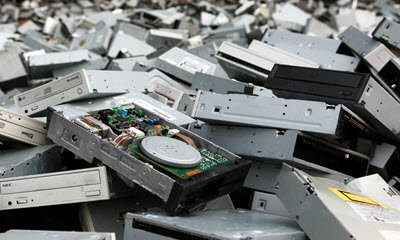 Discdrives/CD-ROMS (WEEELABEX) ter recycling
